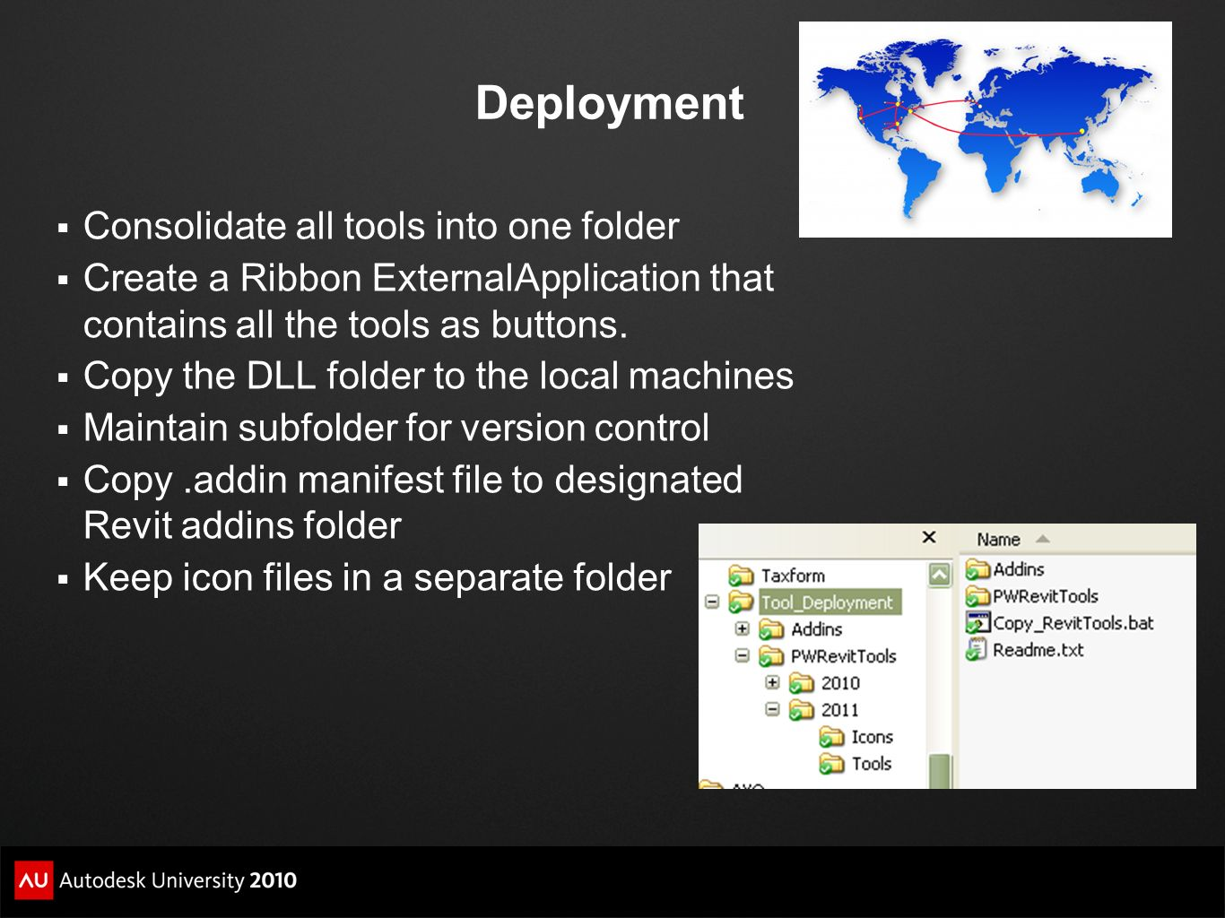 Deployment Consolidate all tools into one folder