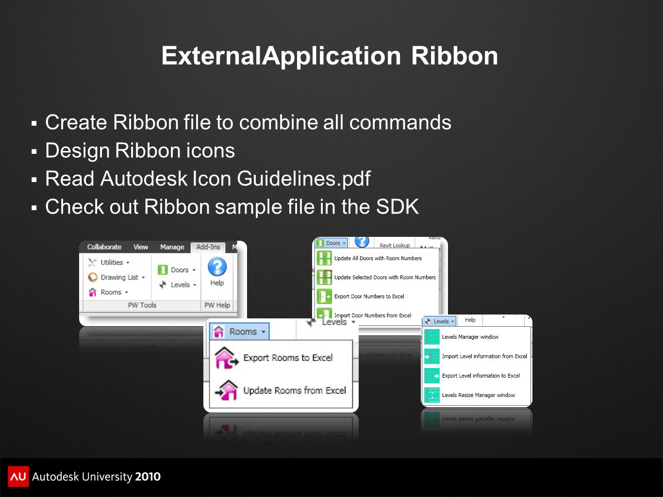 ExternalApplication Ribbon