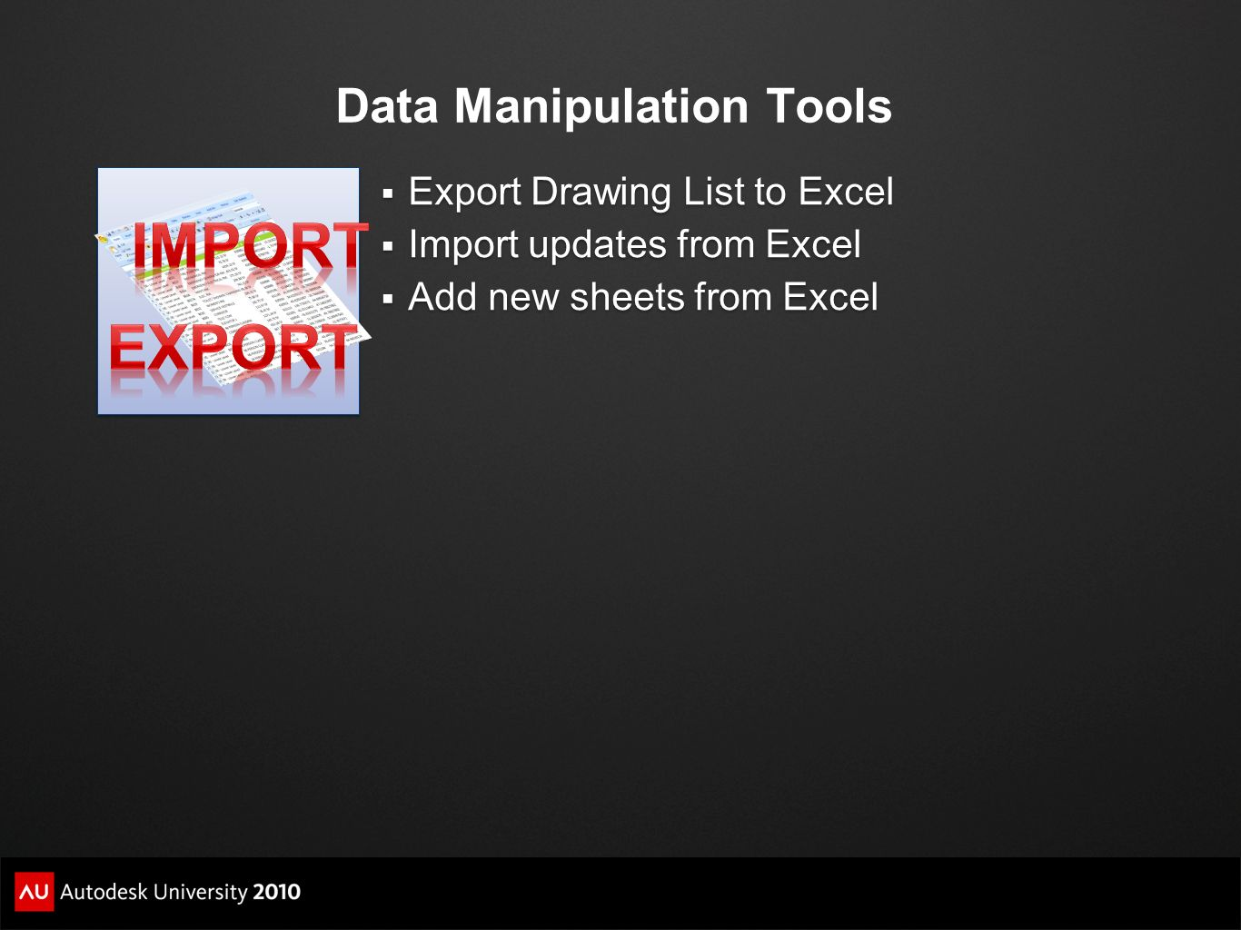Data Manipulation Tools