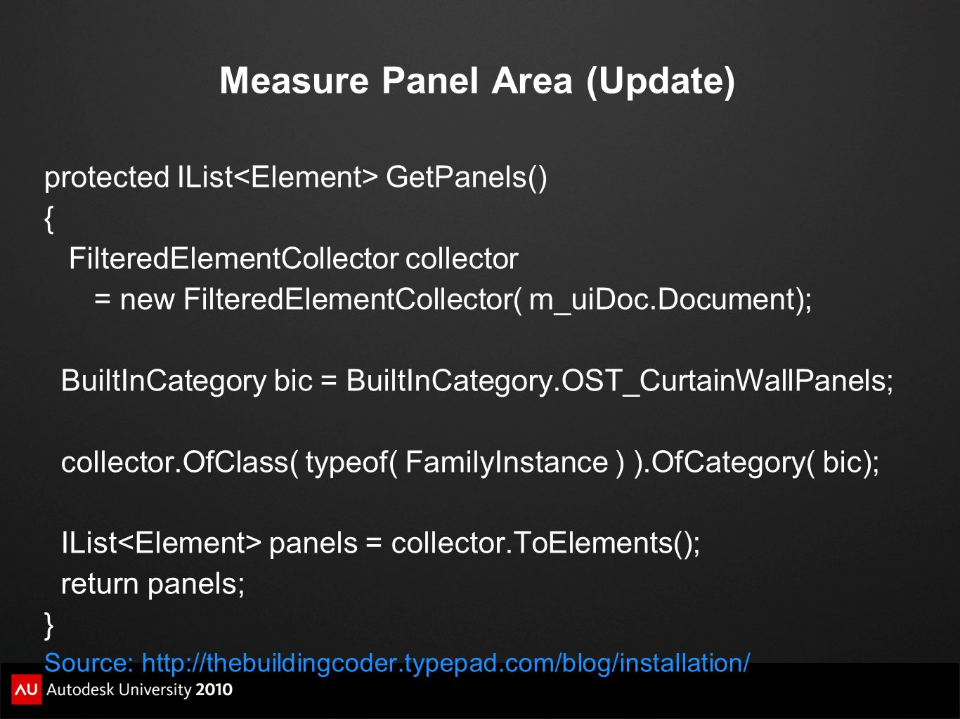 Measure Panel Area (Update)