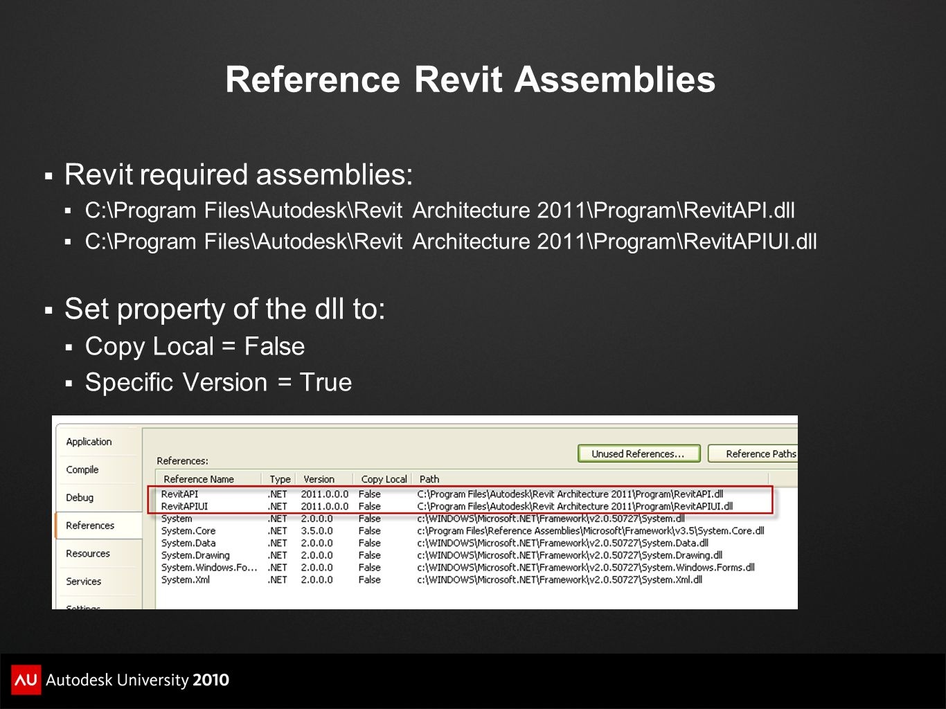 Reference Revit Assemblies