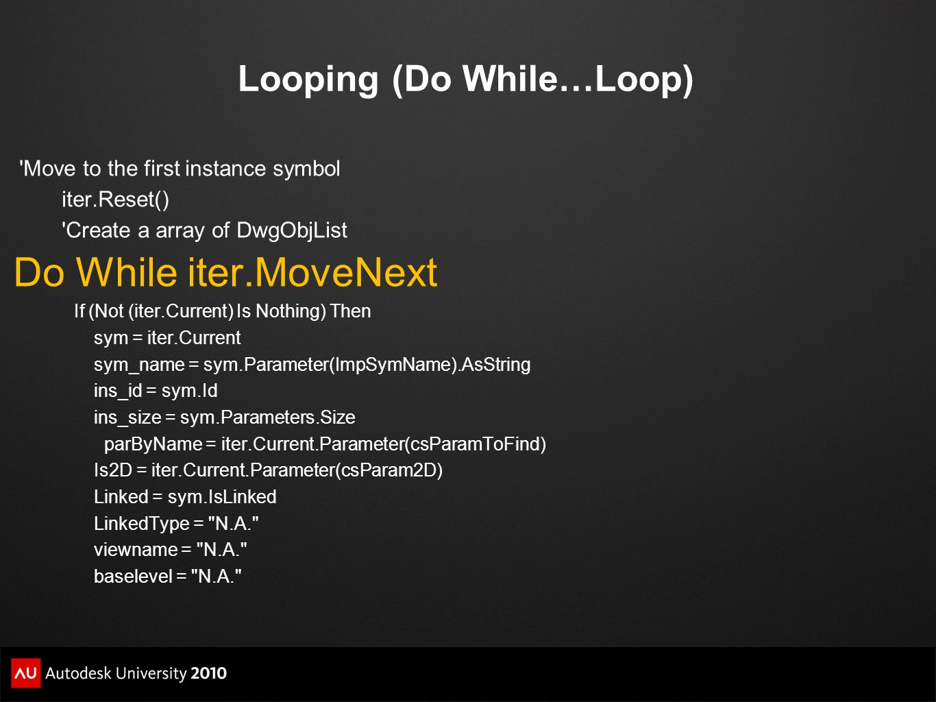 Looping (Do While…Loop)