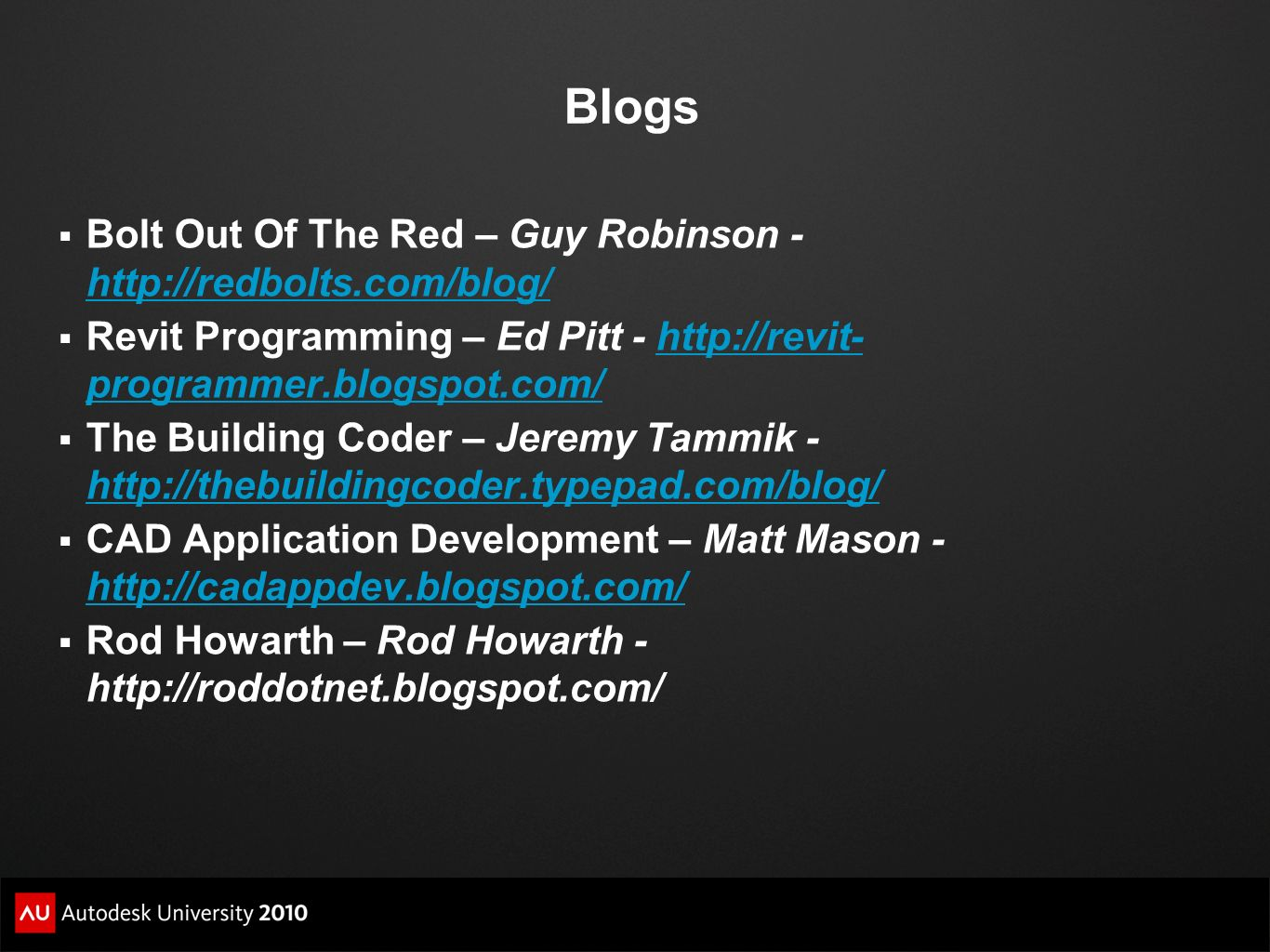 Blogs Bolt Out Of The Red – Guy Robinson - http://redbolts.com/blog/