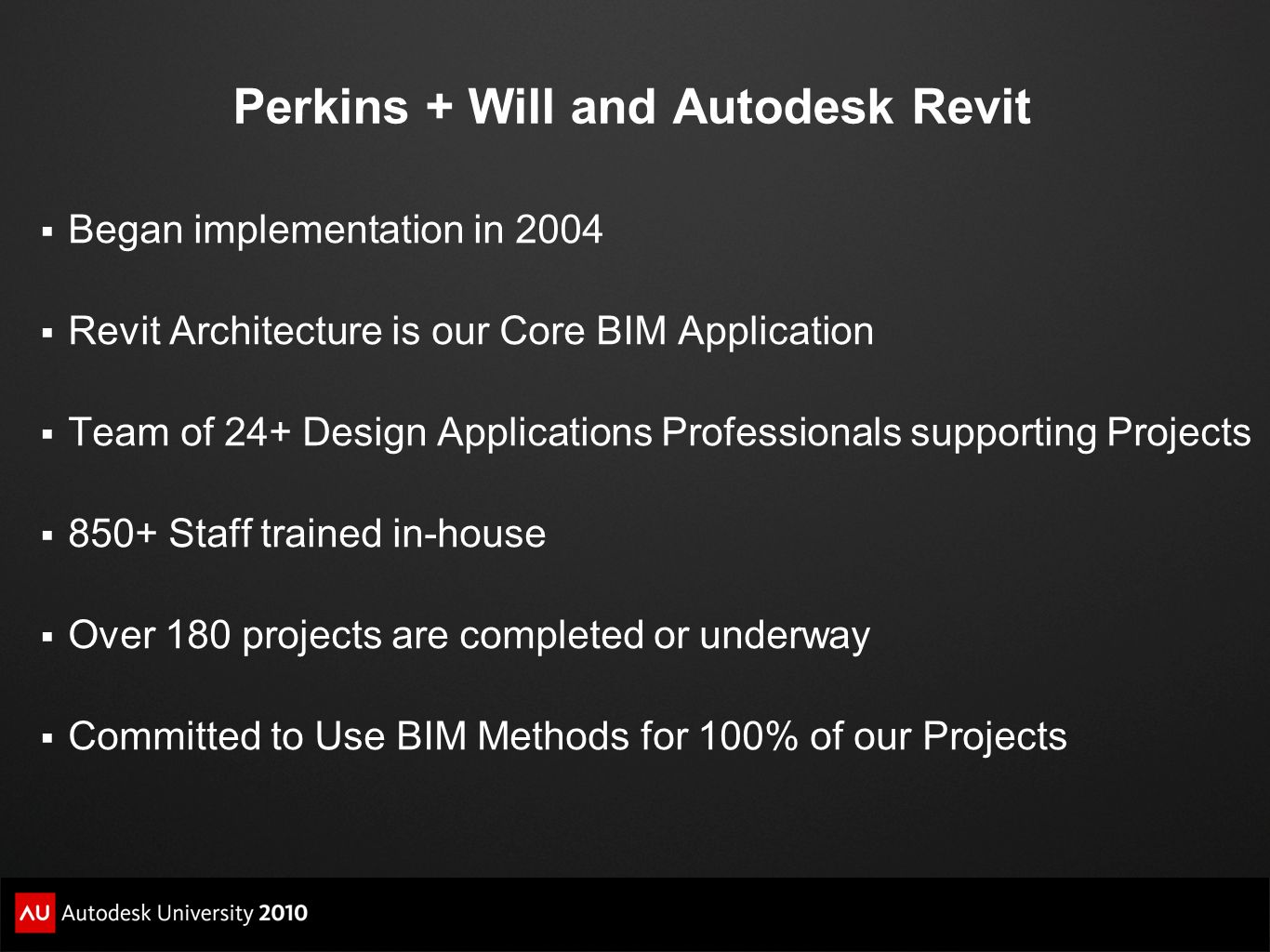 Perkins + Will and Autodesk Revit