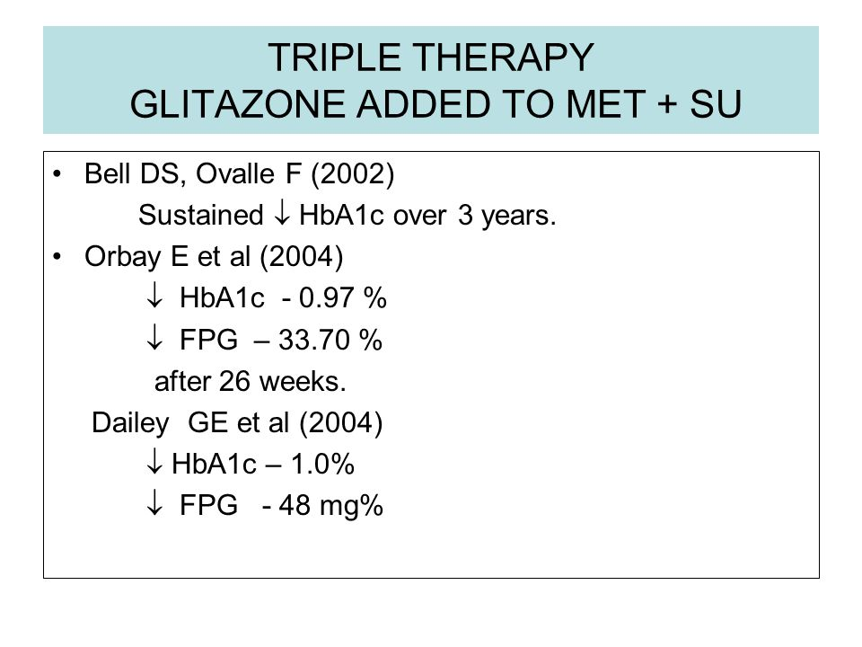 TRIPLE THERAPY GLITAZONE ADDED TO MET + SU