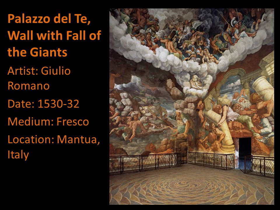 Palazzo del Te, Wall with Fall of the Giants