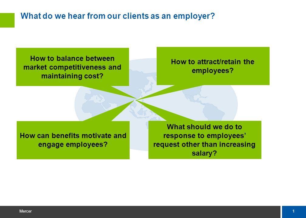 What do we hear from our clients as an employer