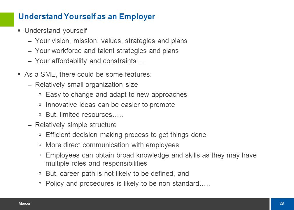 Understand Yourself as an Employer