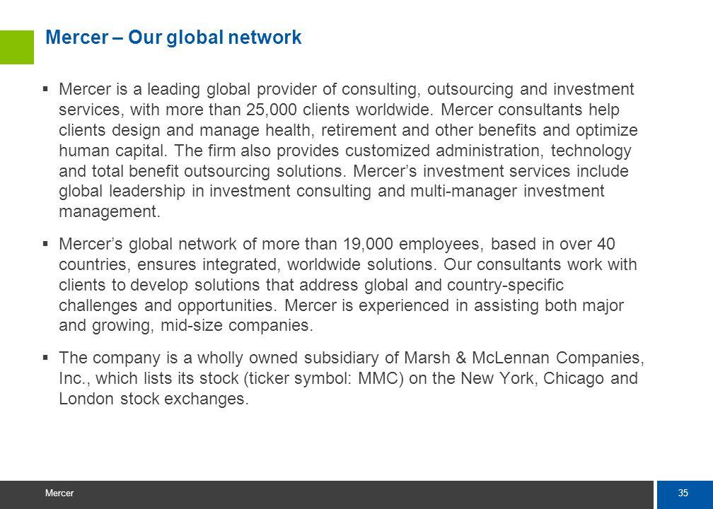 Mercer – Our global network