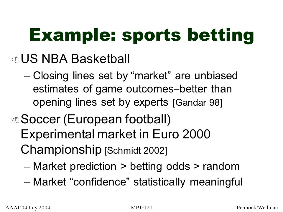 Example: sports betting