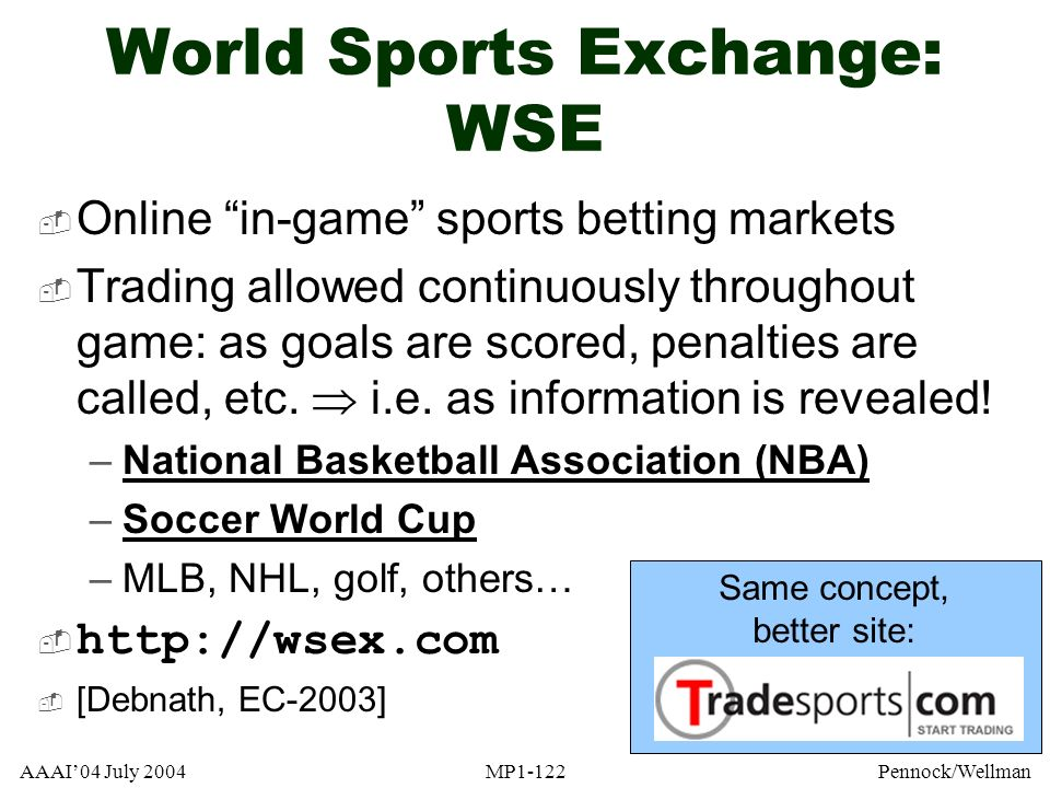 World Sports Exchange: WSE