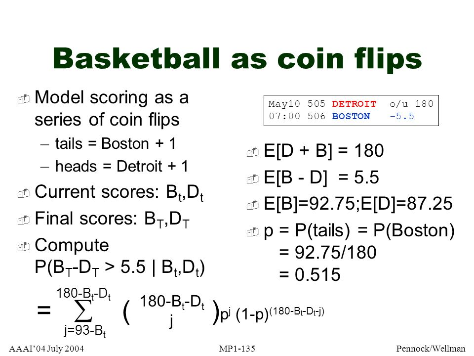 Basketball as coin flips