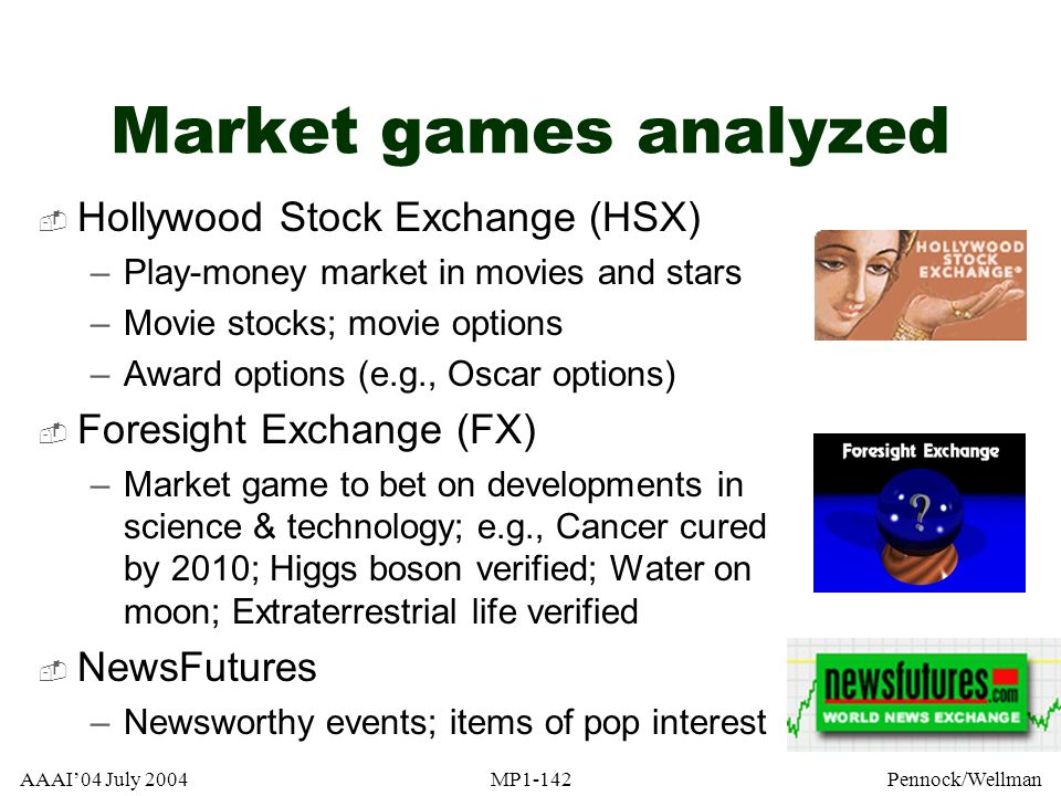 Market games analyzed Hollywood Stock Exchange (HSX)