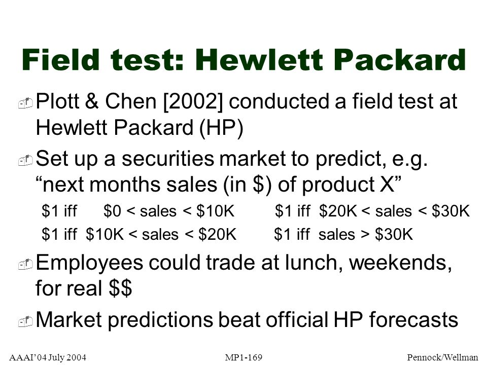 Field test: Hewlett Packard