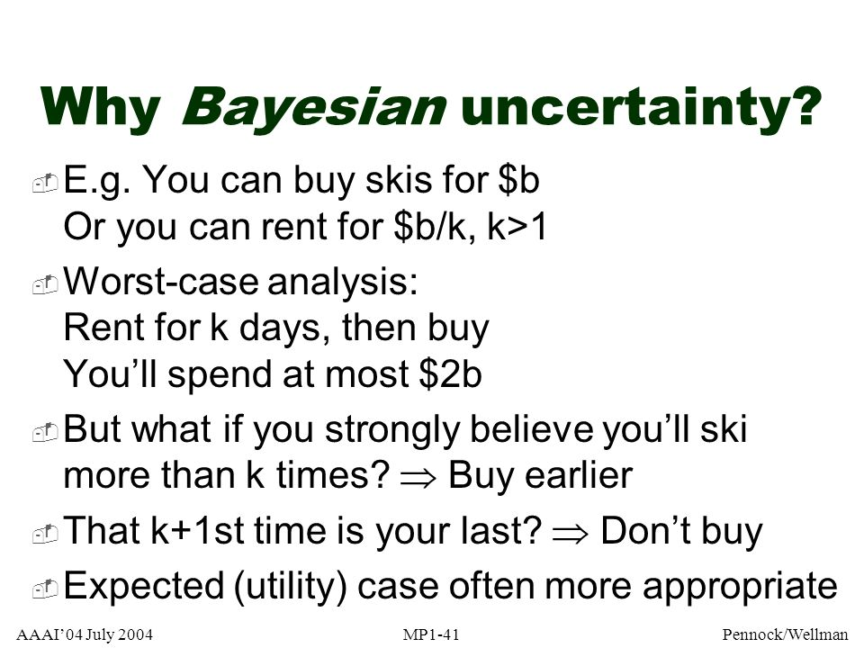 Why Bayesian uncertainty