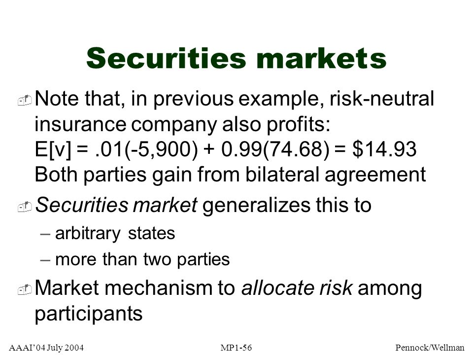 Securities market s