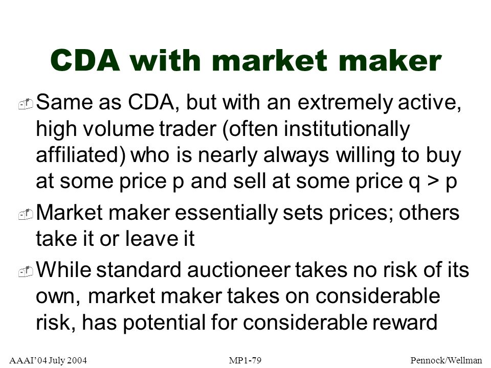 CDA with market maker