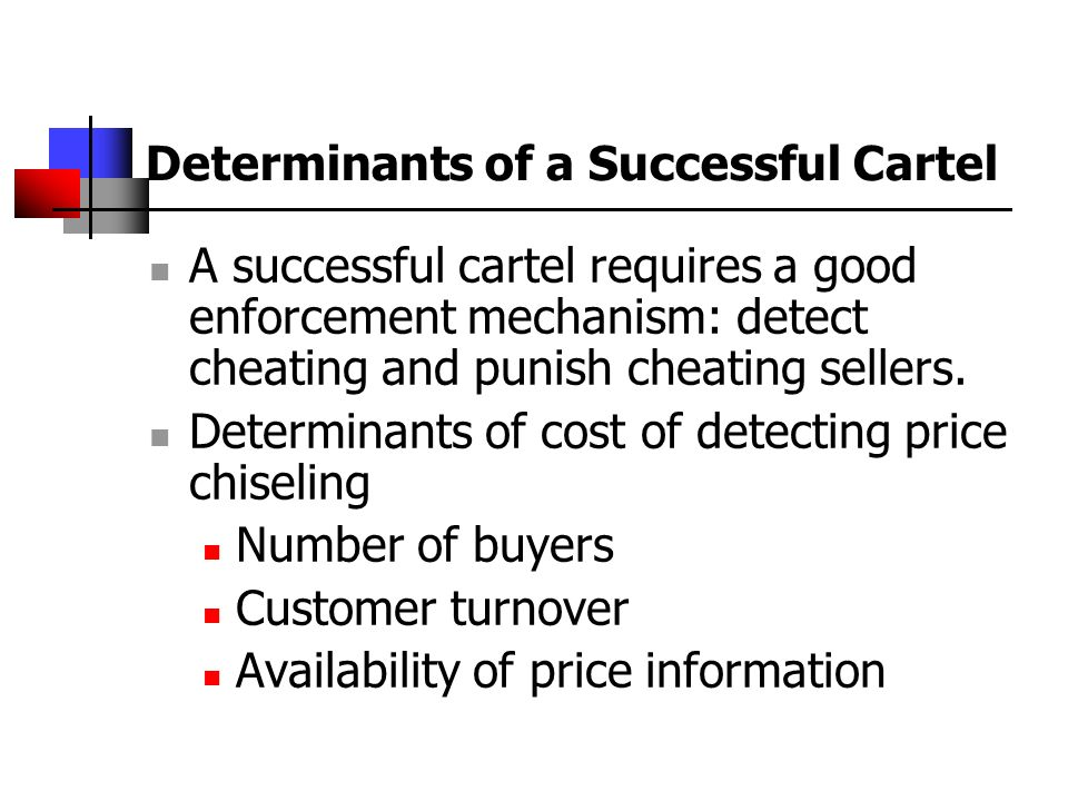 Determinants of a Successful Cartel