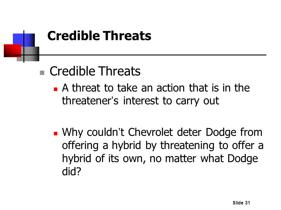 Credible Threats Credible Threats