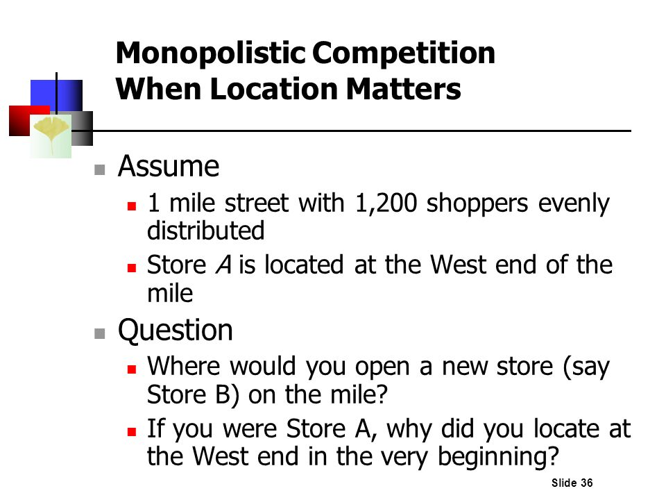 Monopolistic Competition When Location Matters