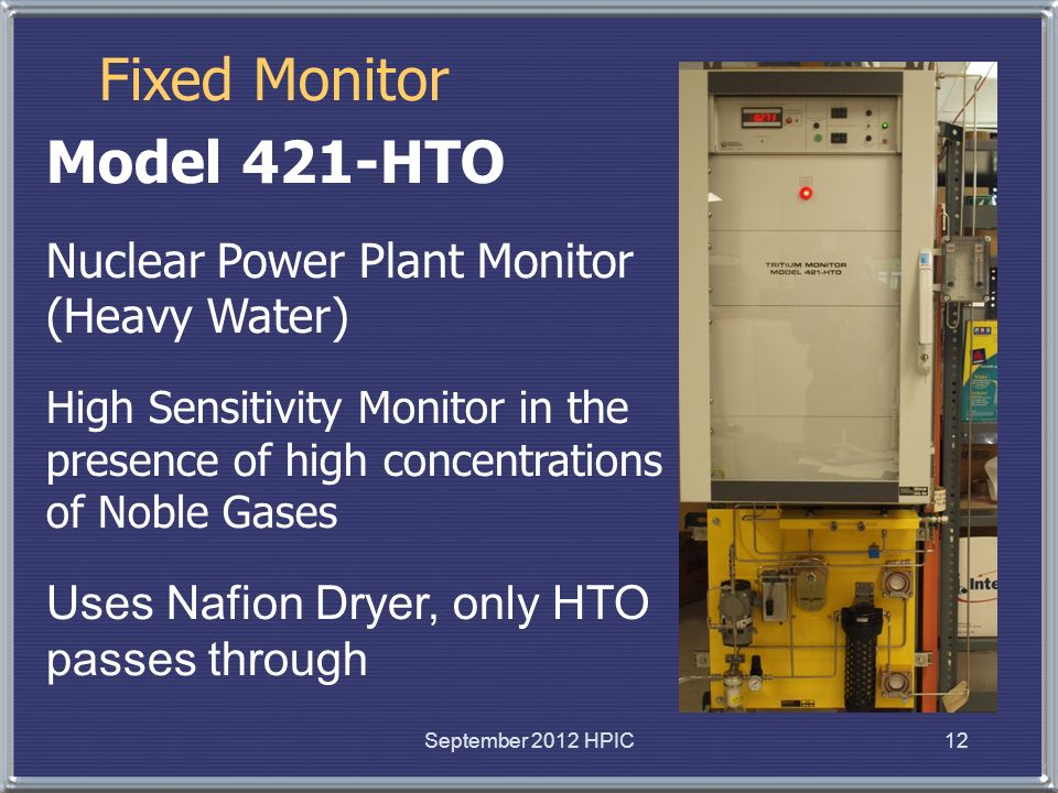 Fixed Monitor Model 421-HTO Nuclear Power Plant Monitor (Heavy Water)