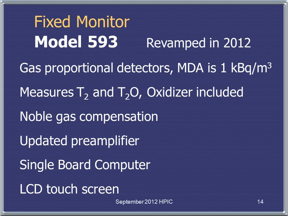 Fixed Monitor Model 593 Revamped in 2012