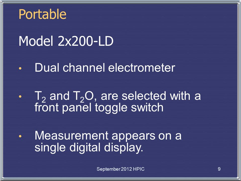 Portable Model 2x200-LD Dual channel electrometer
