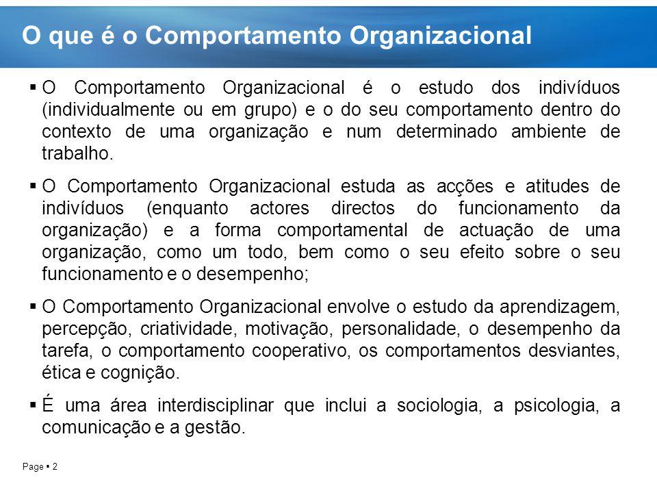 O que é o Comportamento Organizacional