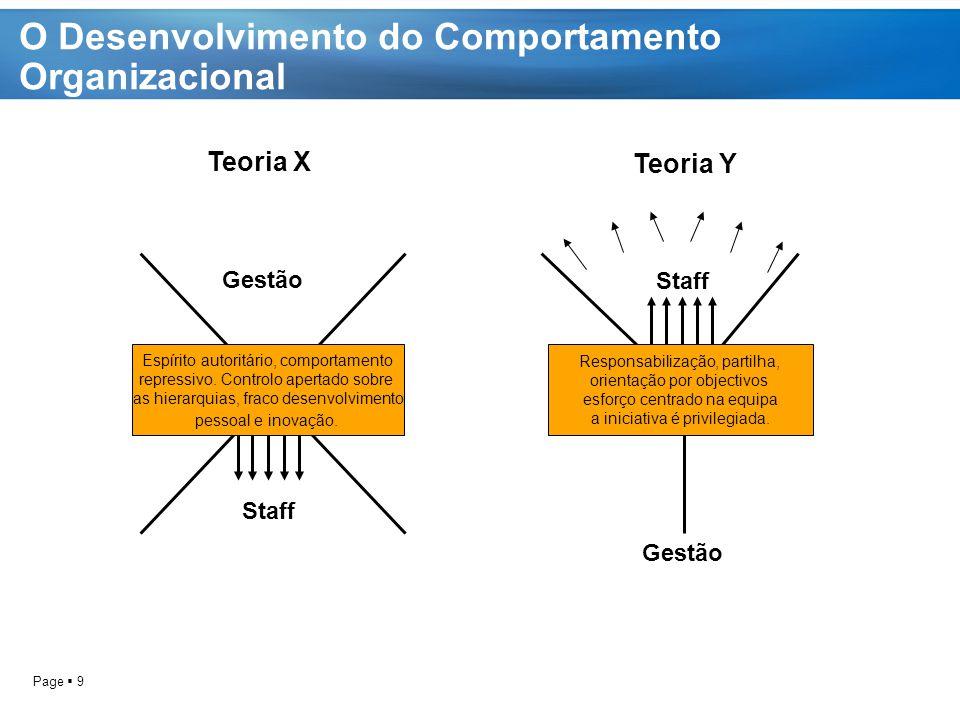 O Desenvolvimento do Comportamento Organizacional