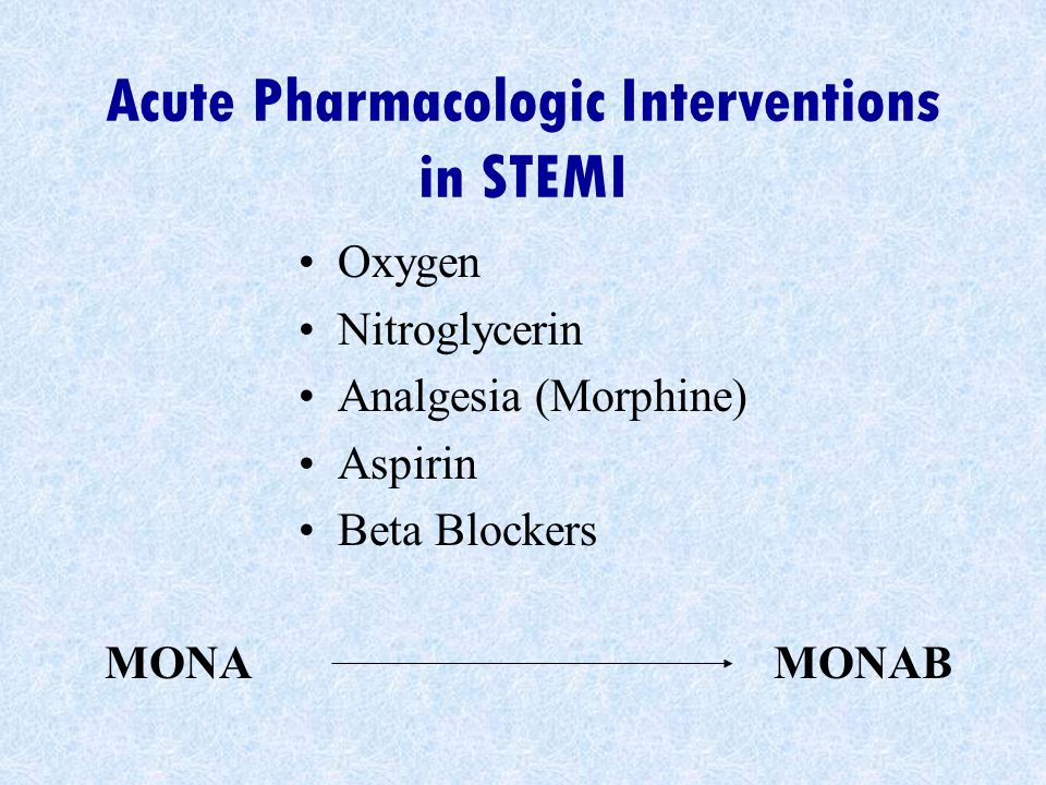 Acute Pharmacologic Interventions in STEMI
