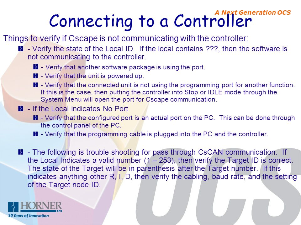 Connecting to a Controller