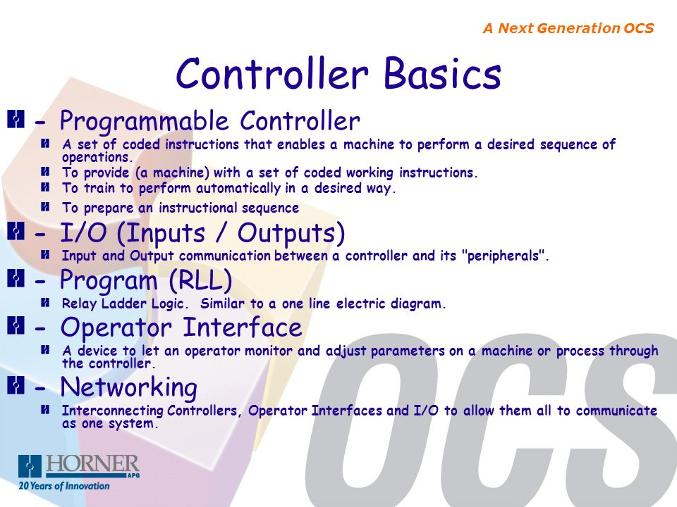 Controller Basics - Programmable Controller - I/O (Inputs / Outputs)