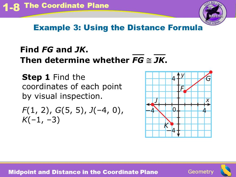 Example 3: Using the Distance Formula