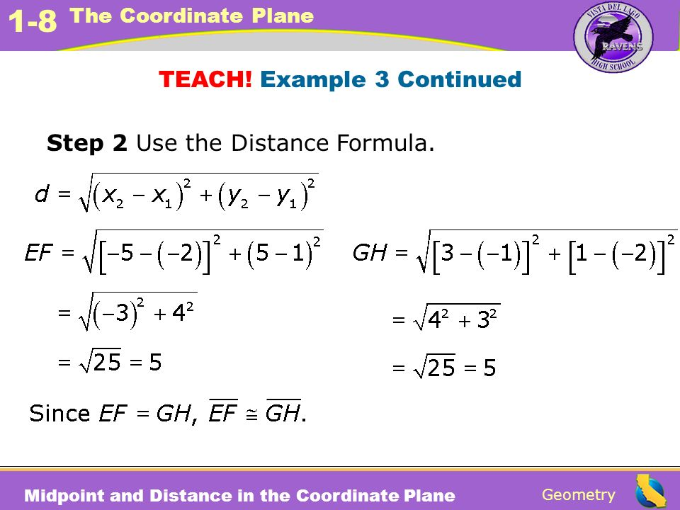TEACH! Example 3 Continued