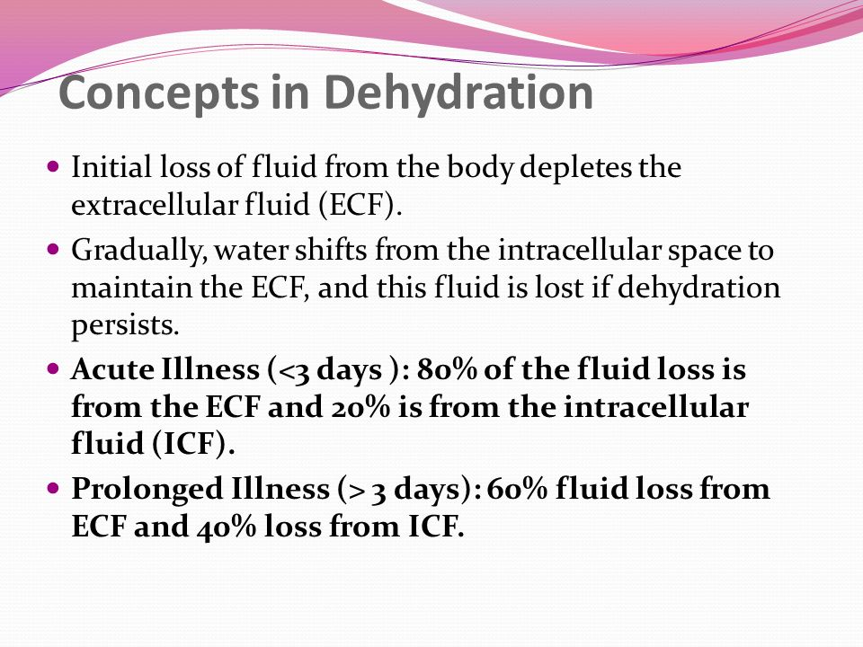 Concepts in Dehydration
