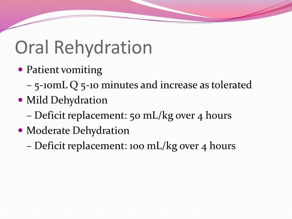 Oral Rehydration Patient vomiting