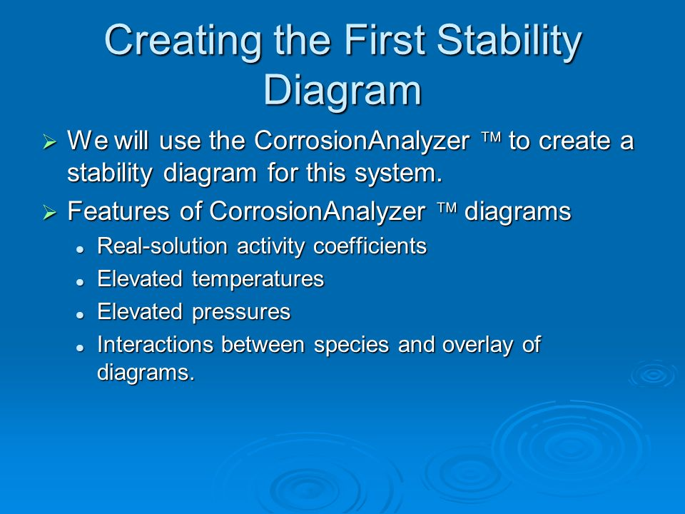 Creating the First Stability Diagram