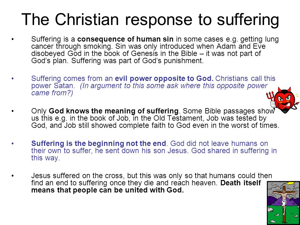 The Christian response to suffering