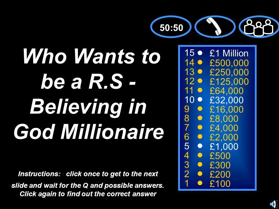 Who Wants to be a R.S -Believing in God Millionaire