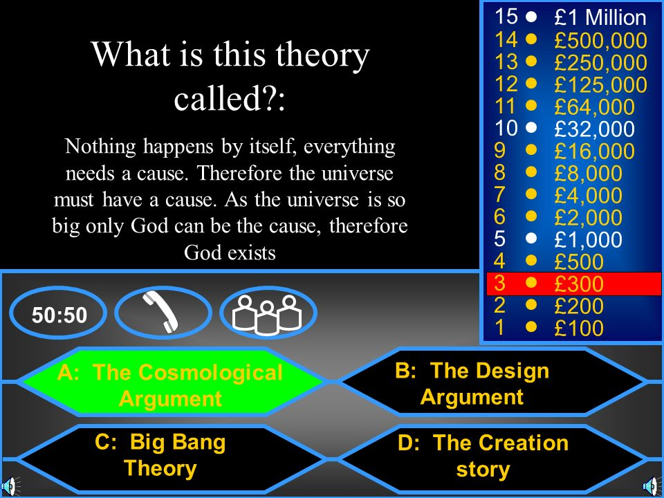 A: The Cosmological Argument