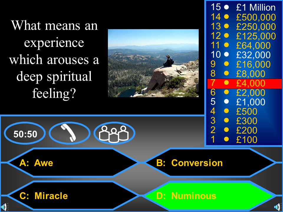 What means an experience which arouses a deep spiritual feeling