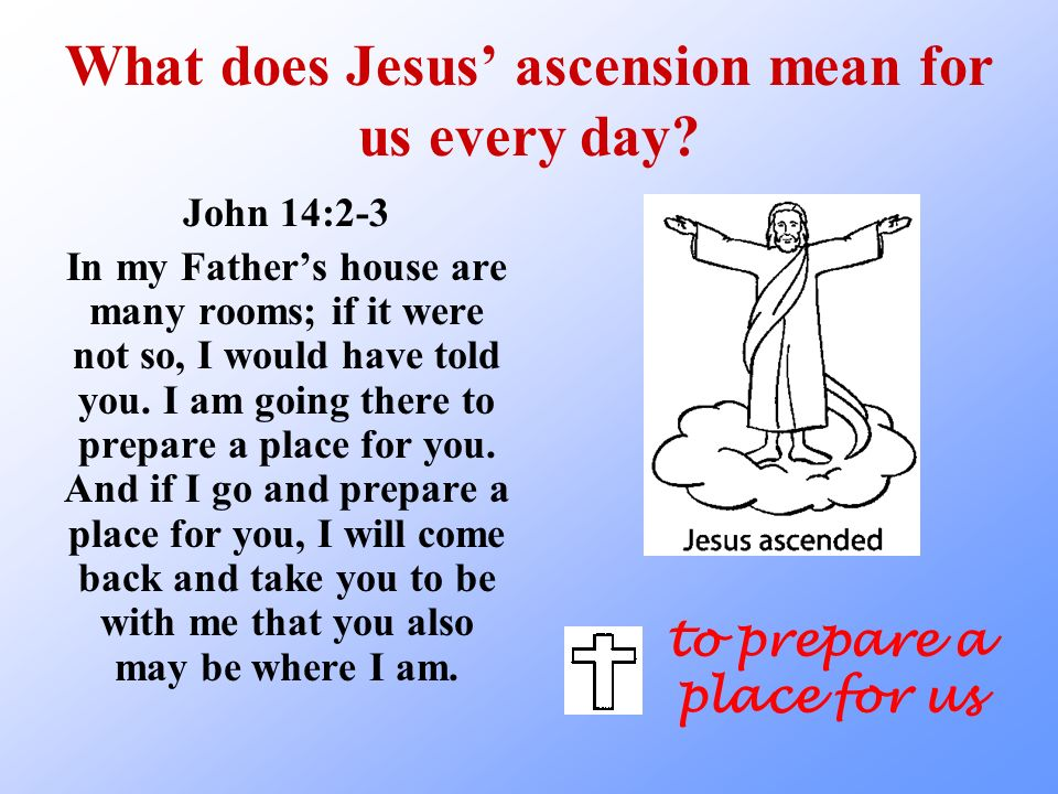 What does Jesus' ascension mean for us every day