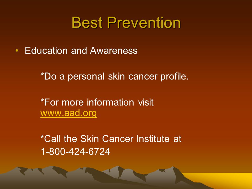 Best Prevention Education and Awareness