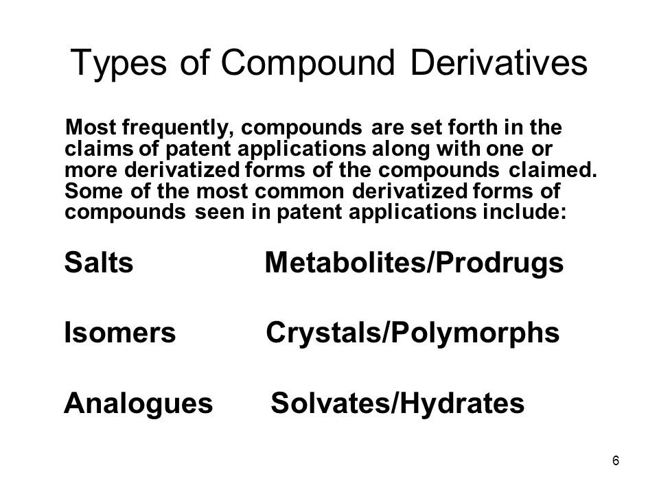 Types of Compound Derivatives