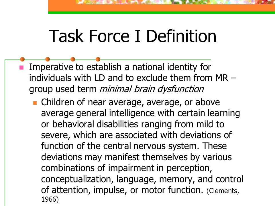 Task Force I Definition