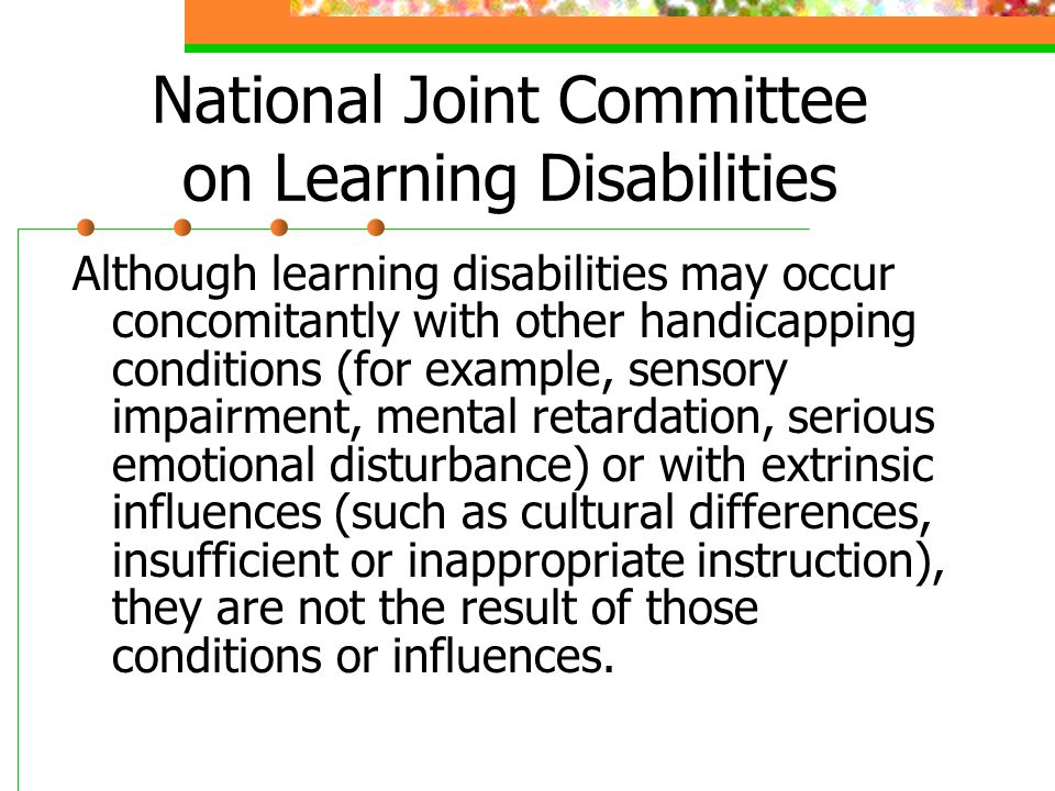 National Joint Committee on Learning Disabilities