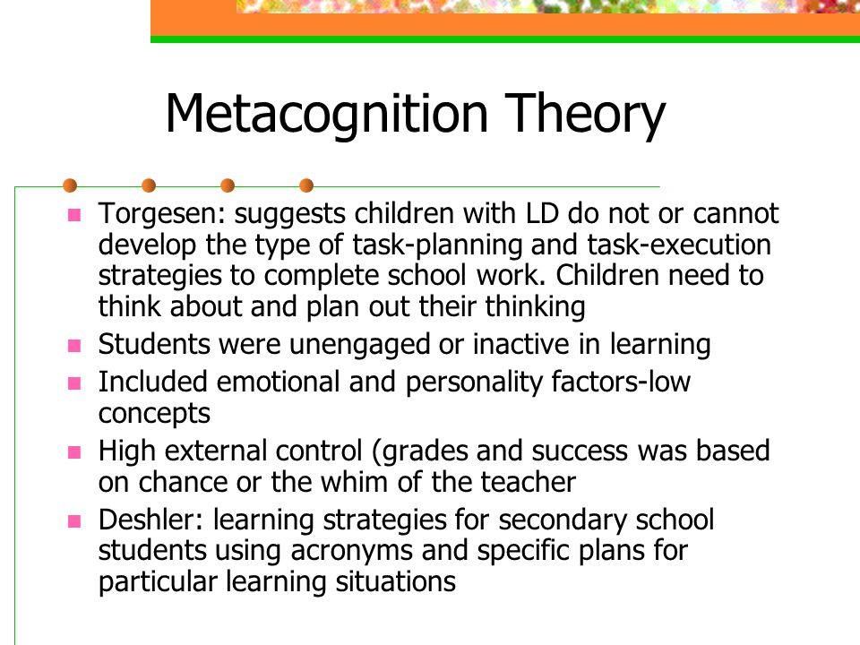Metacognition Theory