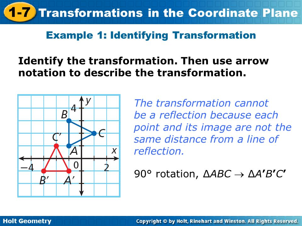 Example 1: Identifying Transformation