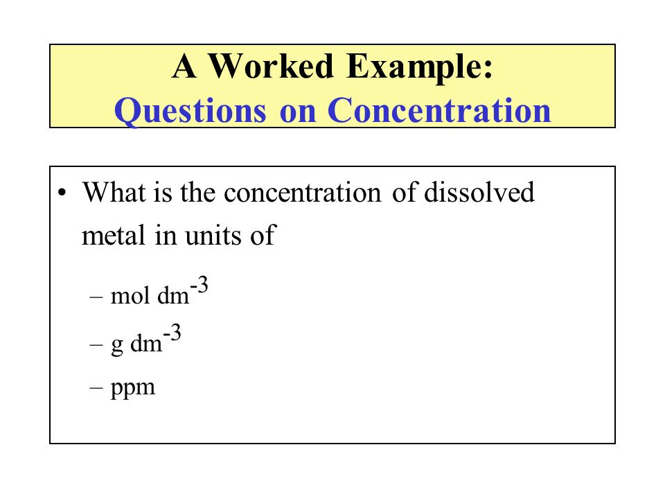 A Worked Example: Questions on Concentration