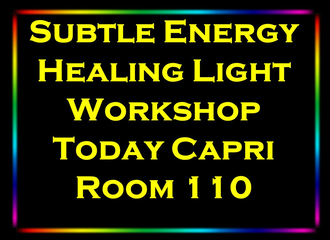 Subtle Energy Healing Light Workshop Today Capri Room 110